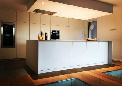 Küche in weißlack