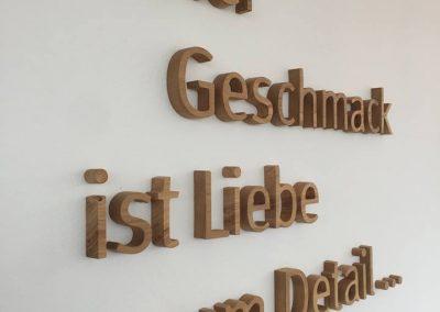 3-D Logo aus Holz für Messerich Catering