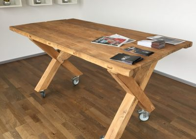 Gebürstete Tischplatte für Messerich Catering_3