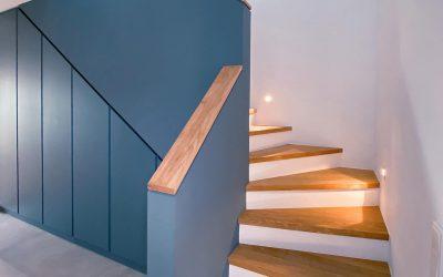 Verschmelzung Treppe und Einbauschrank