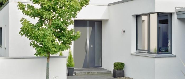 Aluminium Haustür von Kneer-Südfenster